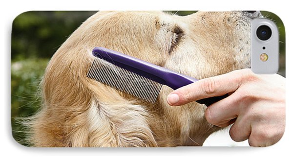 Dog Grooming IPhone Case by Photo Researchers Inc