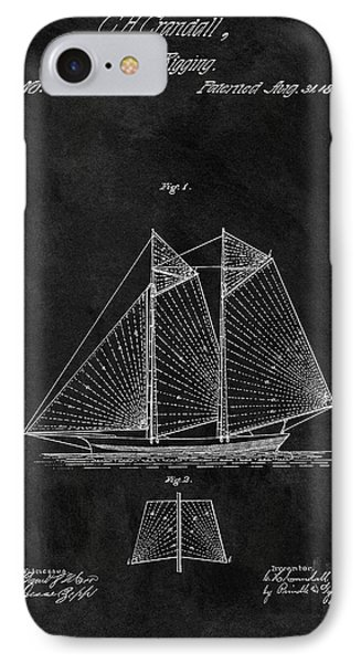 1869 Sailing Vessel Patent IPhone Case by Dan Sproul