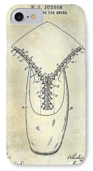 1896 Shoe Patent  IPhone Case by Jon Neidert