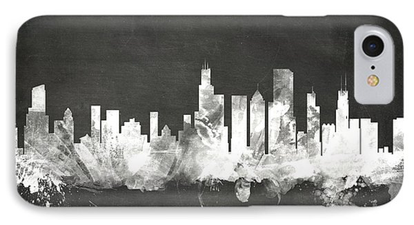 Chicago Illinois Skyline IPhone Case by Michael Tompsett