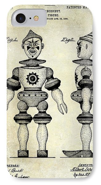 1904 Toy Patent Drawing IPhone Case by Jon Neidert