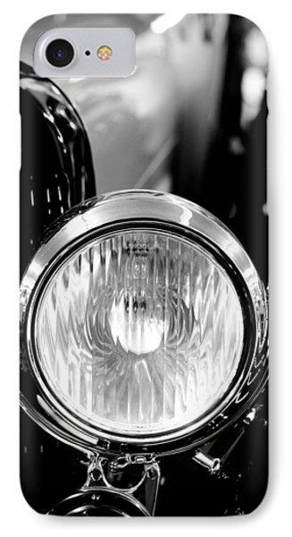 1925 Lincoln Town Car Headlight IPhone Case by Sebastian Musial