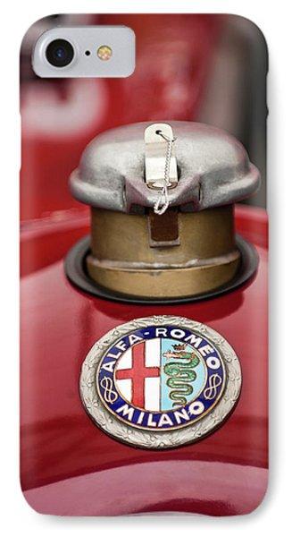 1934 Alfa Romeo Tipo B Hood Emblem Phone Case by Jill Reger