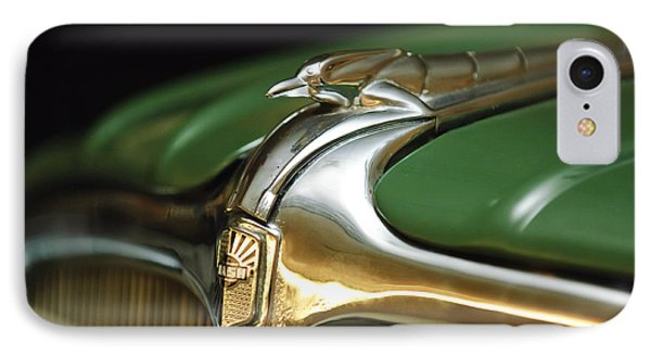 1934 Nash Ambassador 8 Hood Ornament Phone Case by Jill Reger