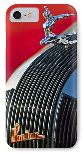 1935 Pontiac Sedan Hood Ornament Phone Case by Jill Reger