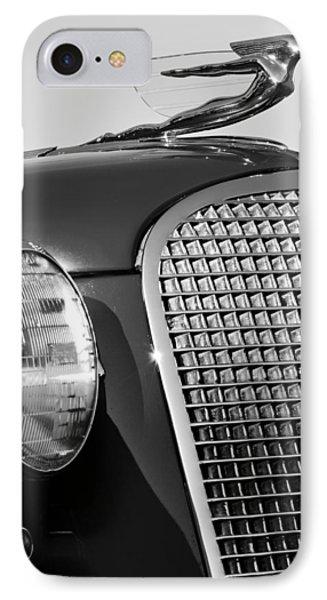 1937 Cadillac V8 Hood Ornament 3 IPhone Case by Jill Reger