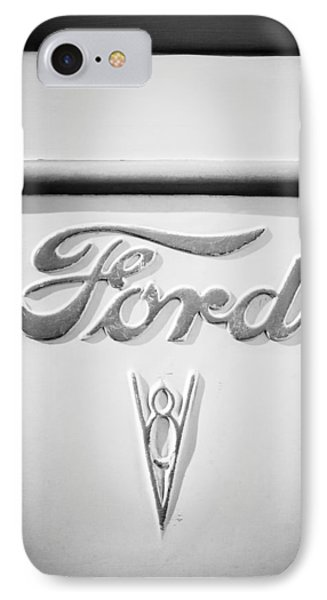 1938 Ford Rat Rod Panel Truck V8 Emblem -ck0119bw IPhone Case by Jill Reger