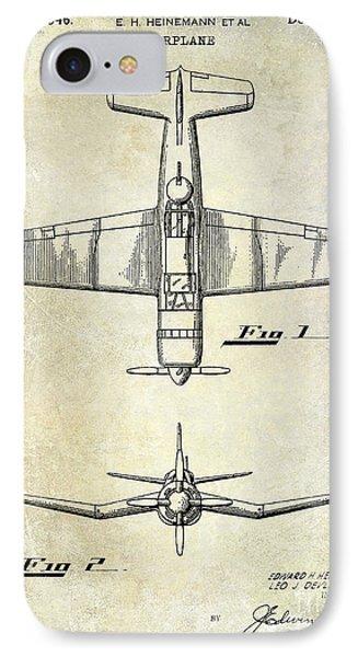 1946 Airplane Patent IPhone Case by Jon Neidert