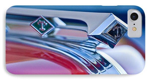1949 Diamond T Truck Hood Ornament 3 IPhone Case by Jill Reger