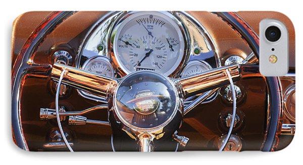 1950 Oldsmobile Rocket 88 Steering Wheel 2 Phone Case by Jill Reger