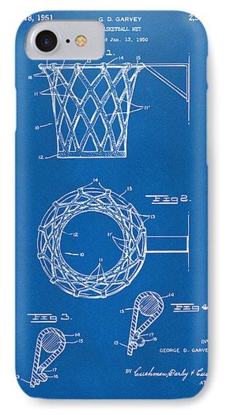 1951 Basketball Net Patent Artwork - Blueprint IPhone Case by Nikki Marie Smith