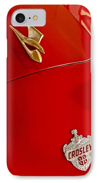 1951 Crosley Hot Shot Hood Ornament Phone Case by Jill Reger