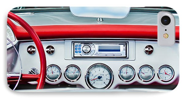 1954 Chevrolet Corvette Dashboard Phone Case by Jill Reger