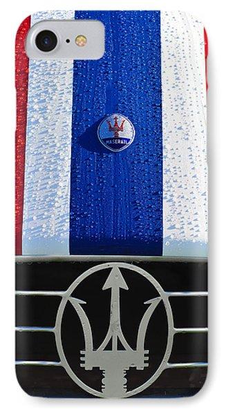 1956 Maserati 350 S Hood Ornament Emblem 3 Phone Case by Jill Reger