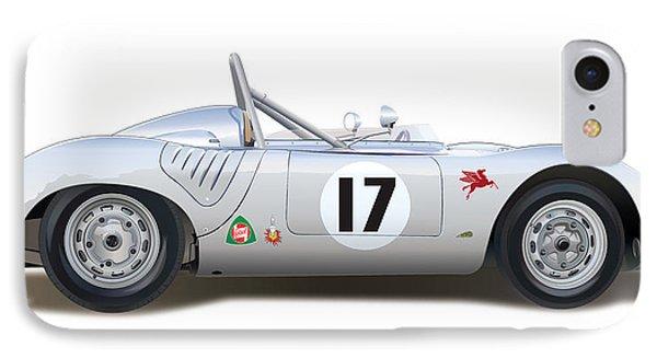 1959 Porsche Type 718 Rsk Spyder IPhone Case by Alain Jamar