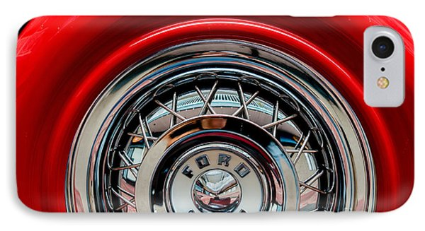 IPhone Case featuring the photograph 1958 Ford Crown Victoria Wheel by M G Whittingham