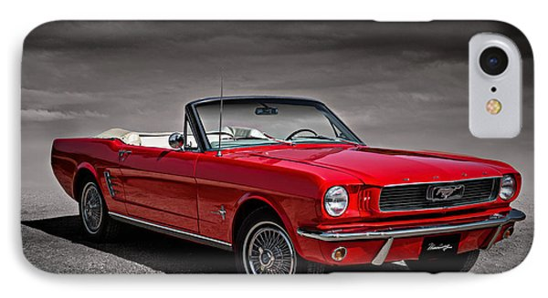 1966 Ford Mustang Convertible IPhone Case by Douglas Pittman