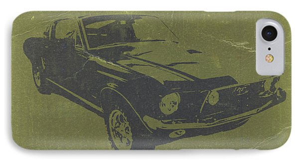 1968 Ford Mustang IPhone Case by Naxart Studio
