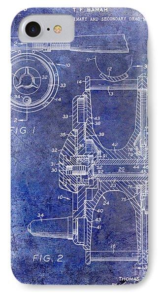 1969 Fly Reel Patent Blue IPhone Case by Jon Neidert