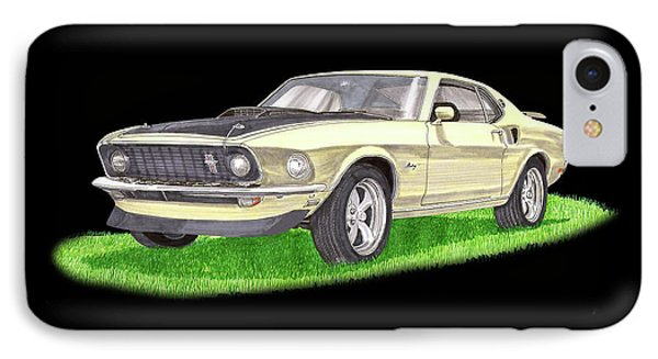 1969 Ford Mustang Fastback IPhone Case by Jack Pumphrey