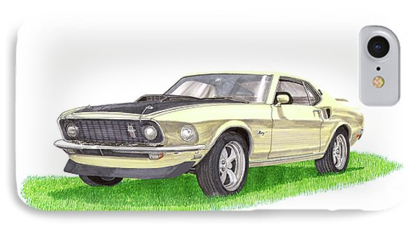 1969 Mustang Fastback IPhone Case by Jack Pumphrey