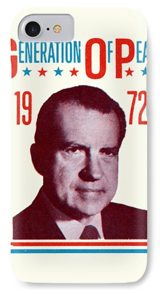 1972 Nixon Presidential Campaign IPhone Case by Historic Image