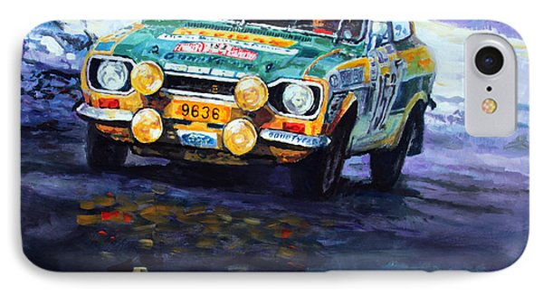 1977 Rallye Monte Carlo Ford Escort Rs 2000 #152 Beauchef Dubois Keller IPhone Case by Yuriy Shevchuk