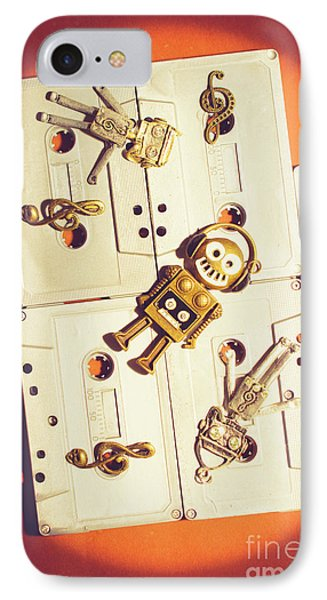 1980s Robot Dancer IPhone Case by Jorgo Photography - Wall Art Gallery