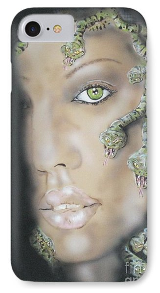 1st Medusa IPhone Case by John Sodja