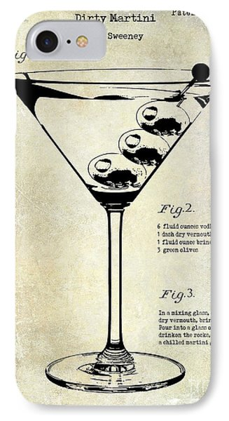 1897 Dirty Martini Patent IPhone Case by Jon Neidert