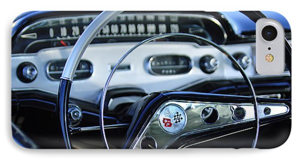 1958 Chevrolet Impala Steering Wheel IPhone Case by Jill Reger