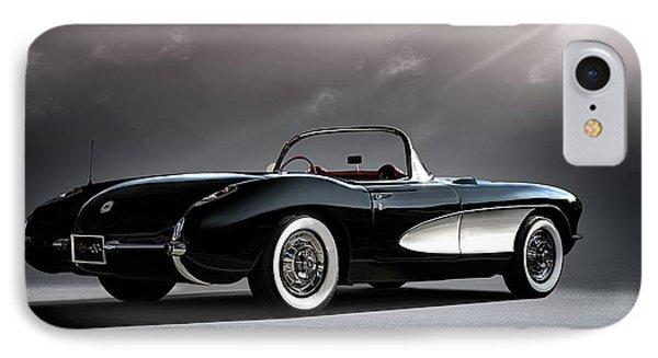 '56 Corvette Convertible IPhone Case by Douglas Pittman