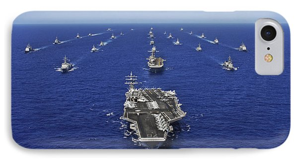 Aircraft Carrier Uss Ronald Reagan Phone Case by Stocktrek Images