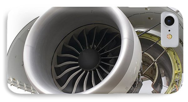 Boeing 747-8 Engine Cowling IPhone Case by Mark Williamson