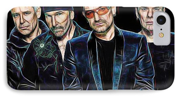 Bono U2 Collection IPhone Case by Marvin Blaine