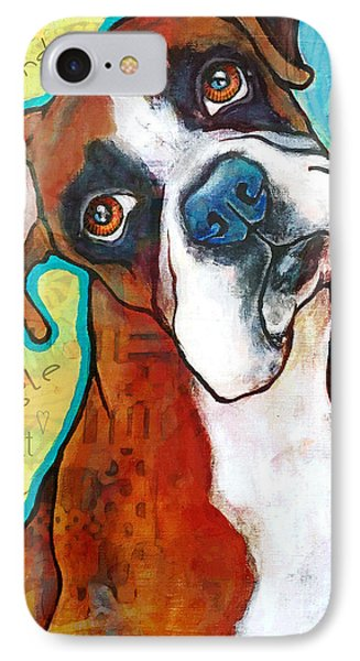 Boxer Love IPhone Case by Stephanie Gerace