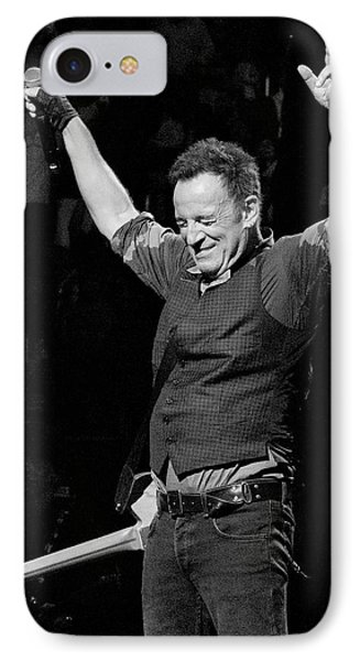 Bruce Springsteen IPhone 7 Case by Jeff Ross