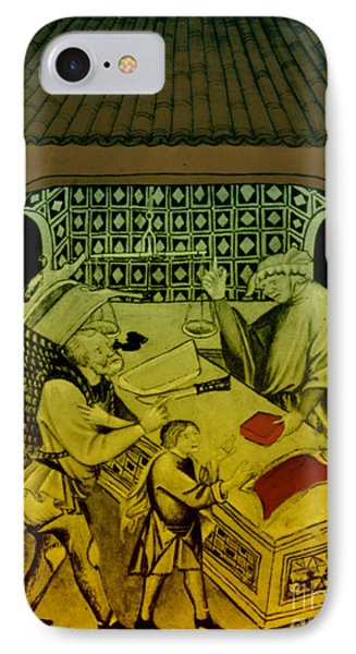 Butcher, Medieval Tradesman Phone Case by Science Source