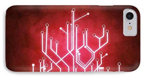 Circuit Board IPhone Case by Setsiri Silapasuwanchai