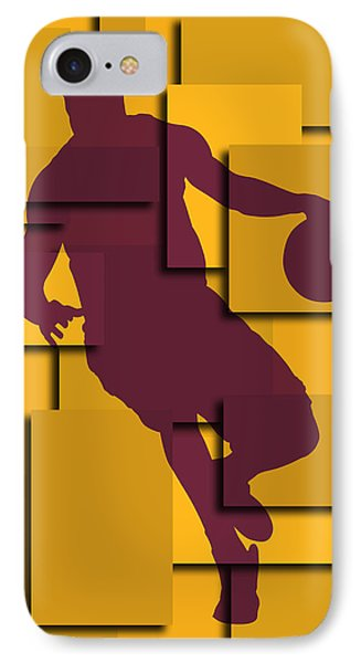 Cleveland Cavaliers Lebron James IPhone Case by Joe Hamilton