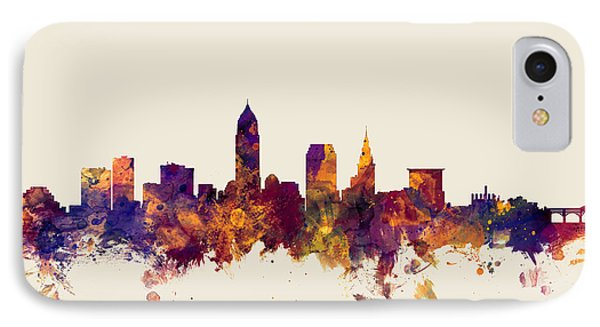 Cleveland Ohio Skyline IPhone Case by Michael Tompsett