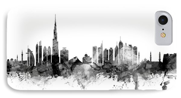 Dubai Skyline IPhone Case by Michael Tompsett