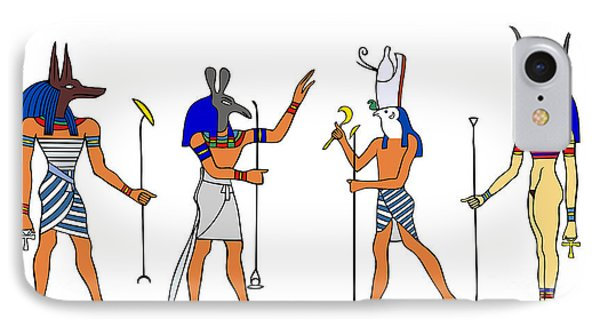 Egyptian Gods And Goddess IPhone Case by Michal Boubin