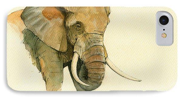 Elephant Painting           IPhone Case by Juan  Bosco
