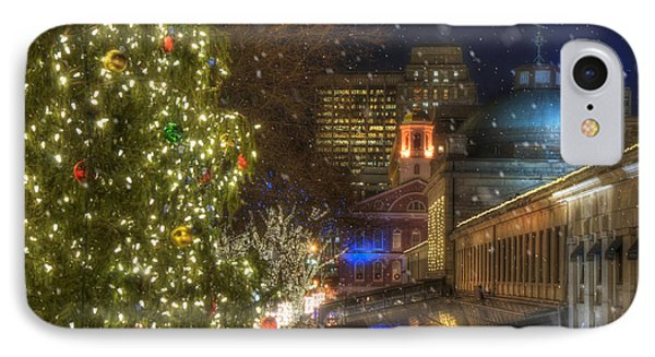 Faneuil Hall Christmas IPhone Case by Joann Vitali