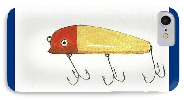 Fishing Lure  IPhone Case by Juan Bosco