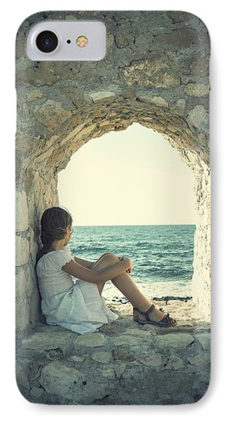 Girl At The Sea IPhone Case by Joana Kruse