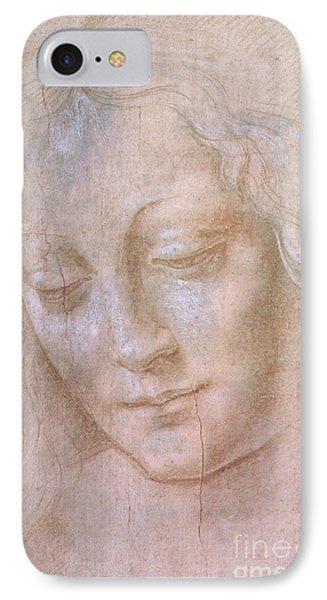Head Of A Woman  IPhone Case by Leonardo da Vinci