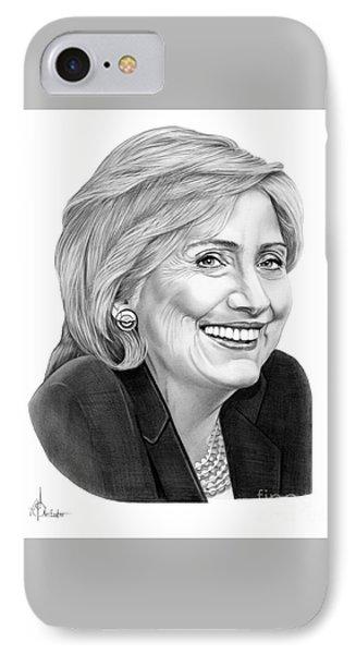 Hillary Clinton IPhone Case by Murphy Elliott