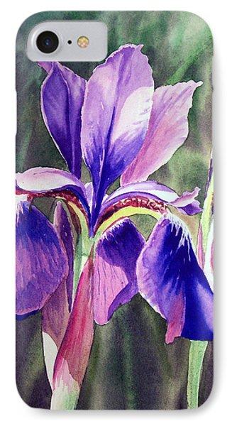 Purple Iris IPhone Case by Irina Sztukowski
